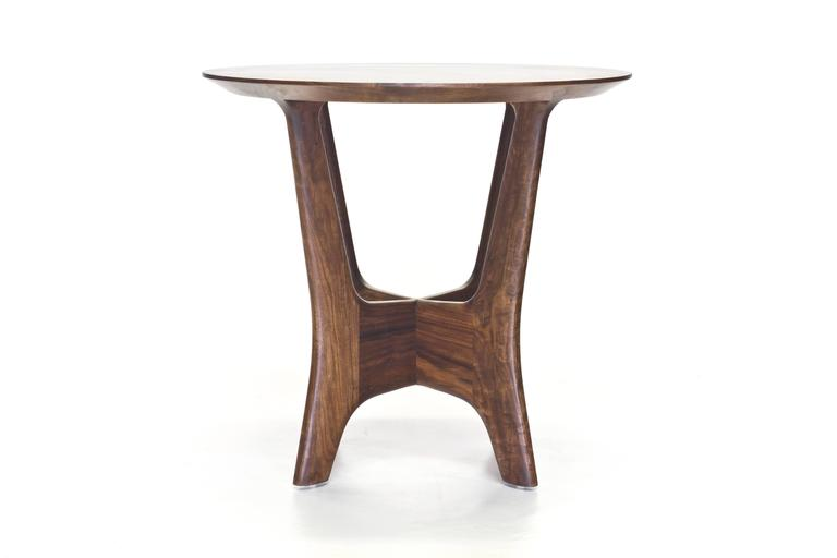 The name of the Sträcka collection by Mack Geggie for Wooda comes from the Swedish word for reach, which is precisely the motion that this desk and end table aimed to capture. The legs on these pieces have outstretched arms that appear eager to