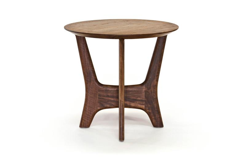 Mid-Century Modern Sträcka End Table in Oiled Walnut by Mack Geggie for Wooda For Sale