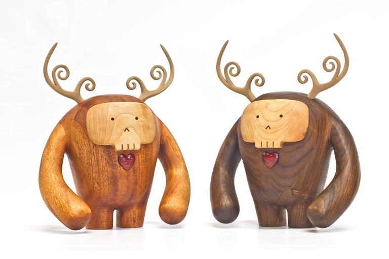 Hermanos Calavera, Conquistador in Walnut by Miguel and Ilse Silva for Wooda 6