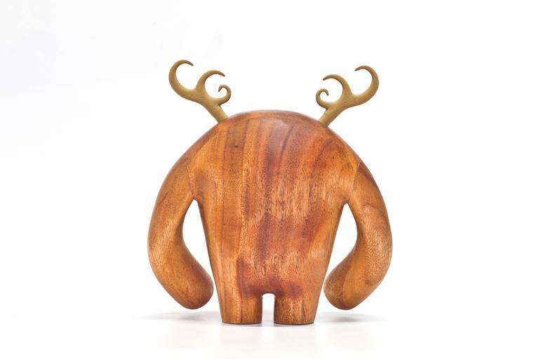 American Hermanos Calavera Traicionera in Oiled Mahogany by Miguel & Ilse Silva for Wooda For Sale