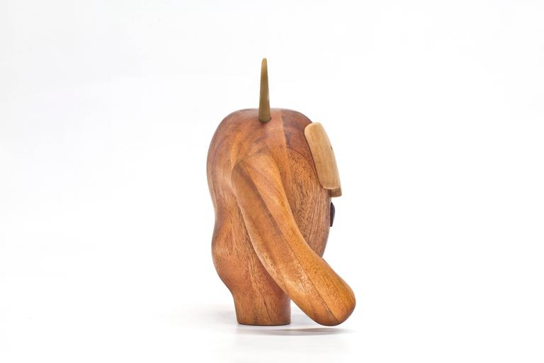 Modern Hermanos Calavera Traicionera in Oiled Mahogany by Miguel & Ilse Silva for Wooda For Sale