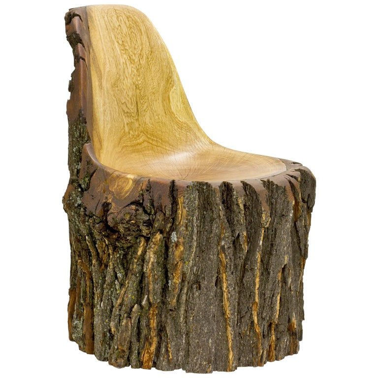 Log Type E in Solid Red Oak, Bark on by Tucker Viemeister For Sale