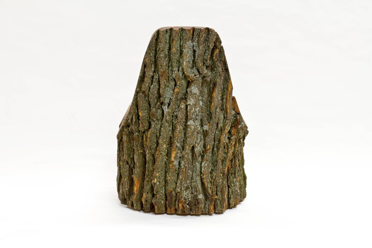 American Log Type E in Solid Red Oak, Bark on by Tucker Viemeister For Sale