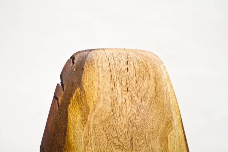 Oiled Log Type E in Solid Red Oak, Bark on by Tucker Viemeister For Sale