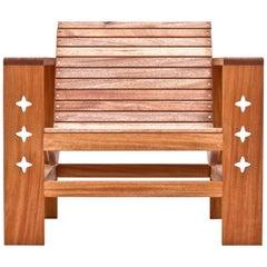 Uti 'Ooh-Tee' Chair in Mahogany with Natural Finish, Wooda Original, in Stock