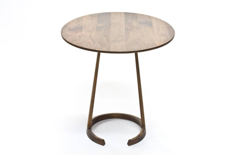 Modern Repose End Table in Oiled Walnut by Zac Feltoon for Wooda For Sale
