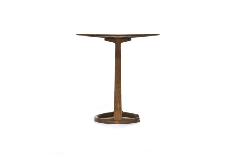 Repose End Table in Oiled Walnut by Zac Feltoon for Wooda In New Condition For Sale In Omro, WI