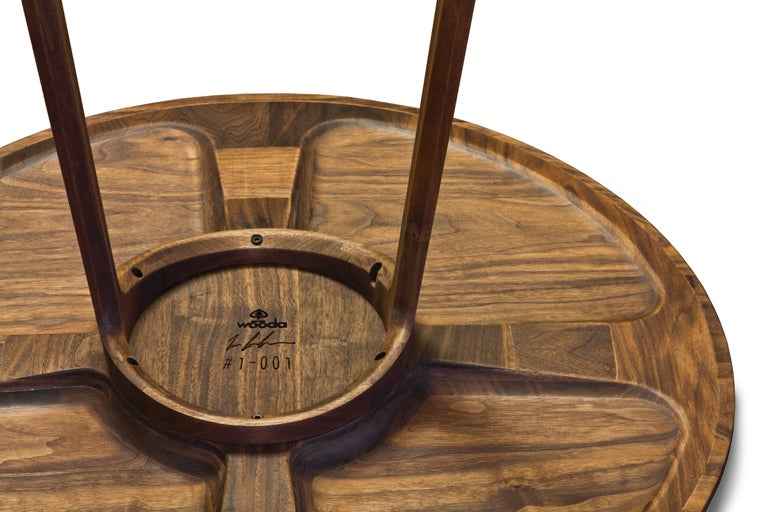Repose End Table in Oiled Walnut by Zac Feltoon for Wooda For Sale 1
