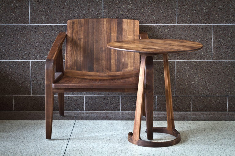 Repose End Table in Oiled Walnut by Zac Feltoon for Wooda For Sale 4