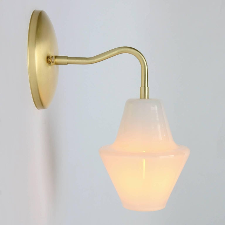 Handmade Glass Wall Sconces : Cumberland Sconce, Handmade Contemporary Glass Sconce by Studio DUNN For Sale at 1stdibs