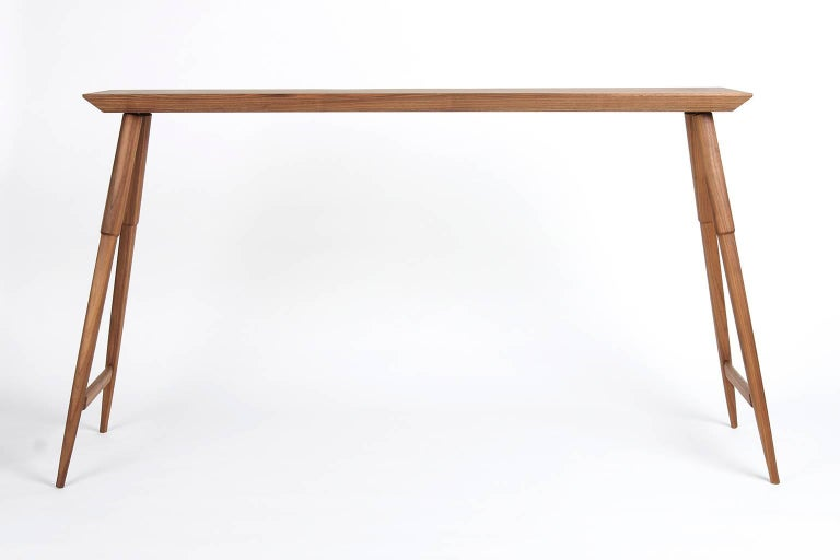 Rockport Hardwood Console Table Mid Century Inspired And