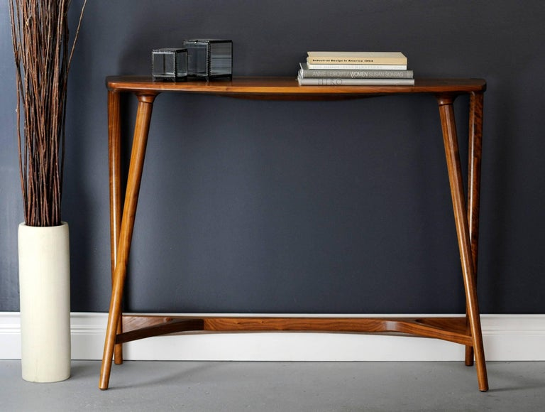 Bristol Console Table Midcentury Inspired Hardwood