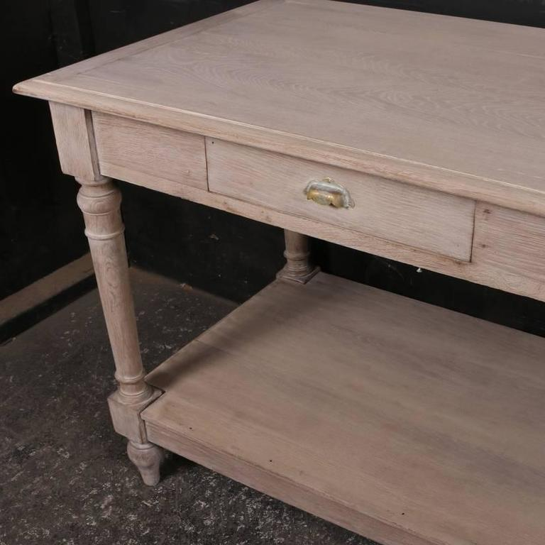 Bleached Antique Drapers Table