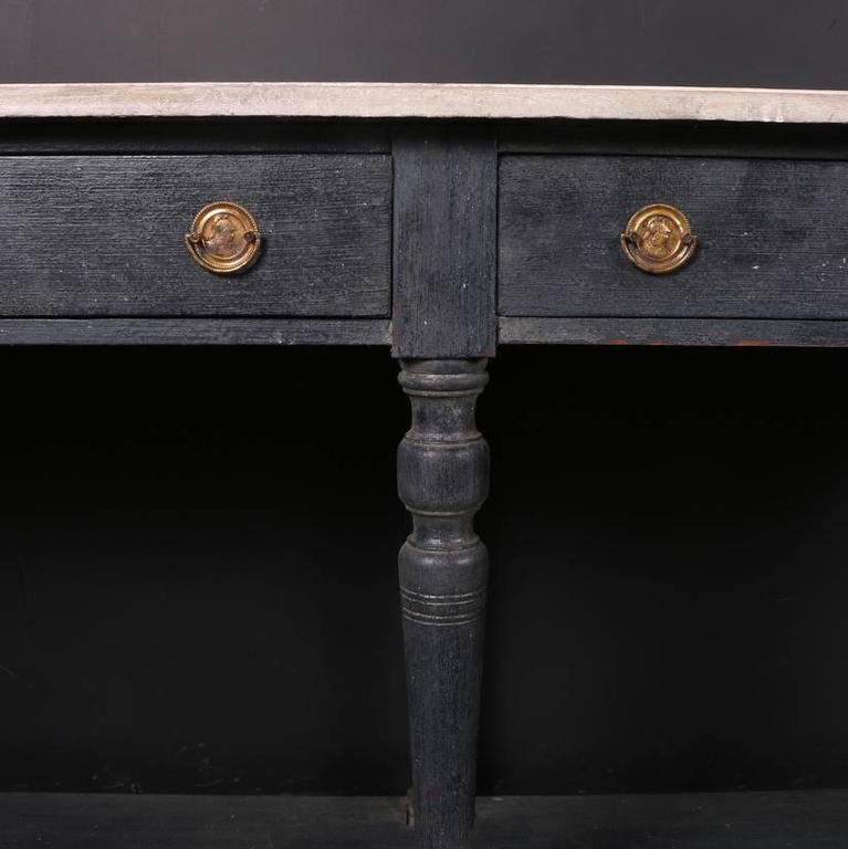 painted drapers table at 1stdibs. Black Bedroom Furniture Sets. Home Design Ideas