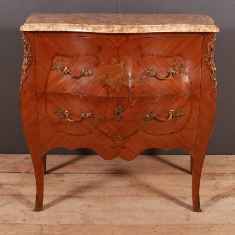 Ormolu French Marquetry Commode For Sale
