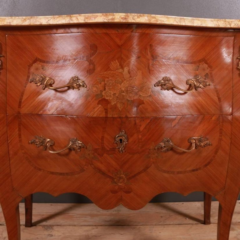 French Marquetry Commode For Sale 1