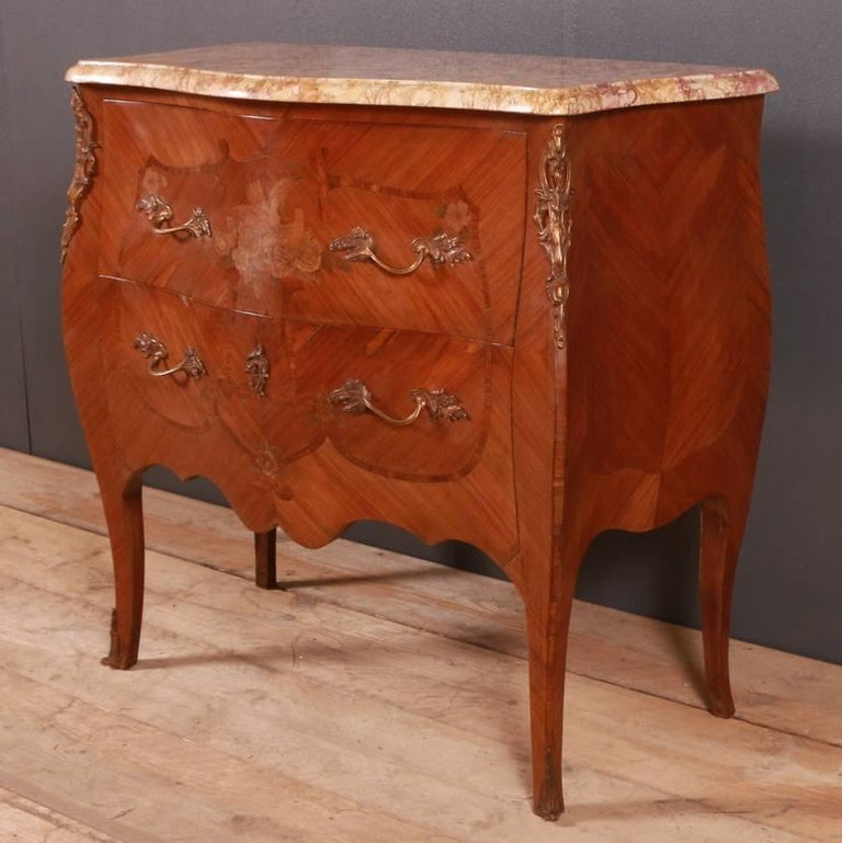 French Marquetry Commode In Good Condition For Sale In Leamington Spa, Warwickshire
