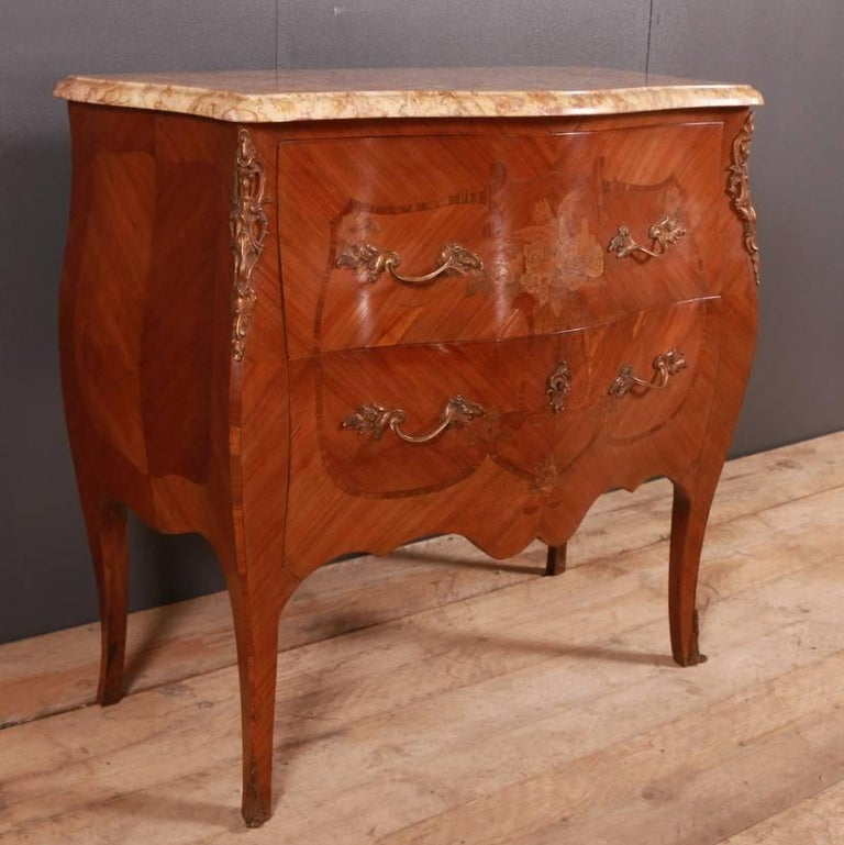 19th Century French Marquetry Commode For Sale