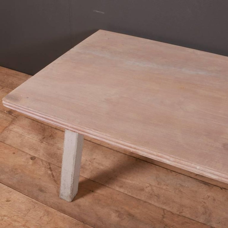 Oak French Painted Coffee Table For Sale