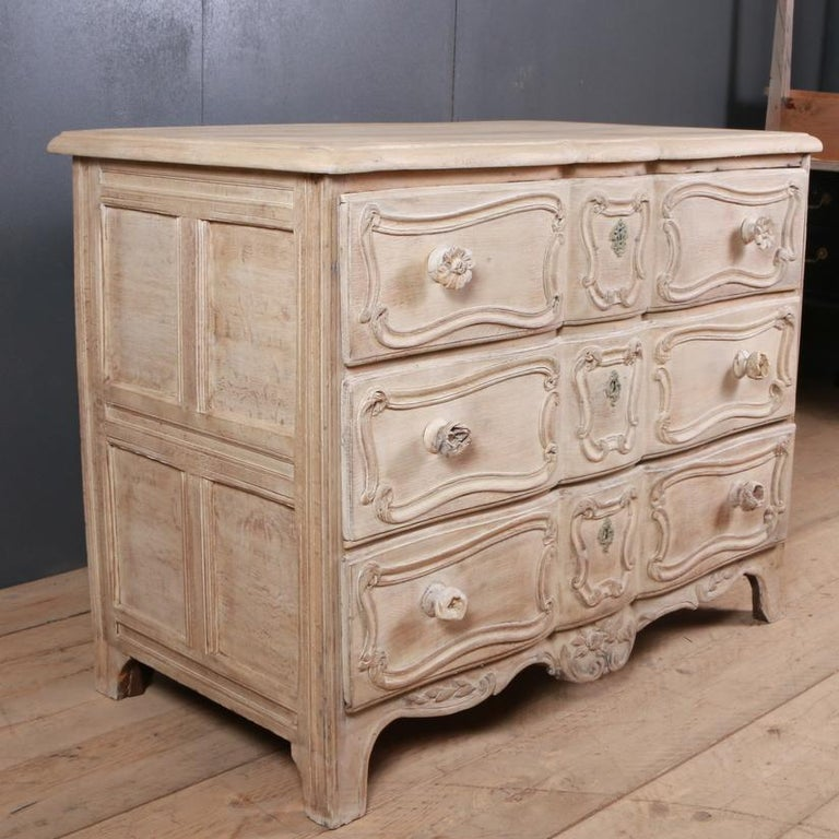 Bleached French Oak Commode For Sale