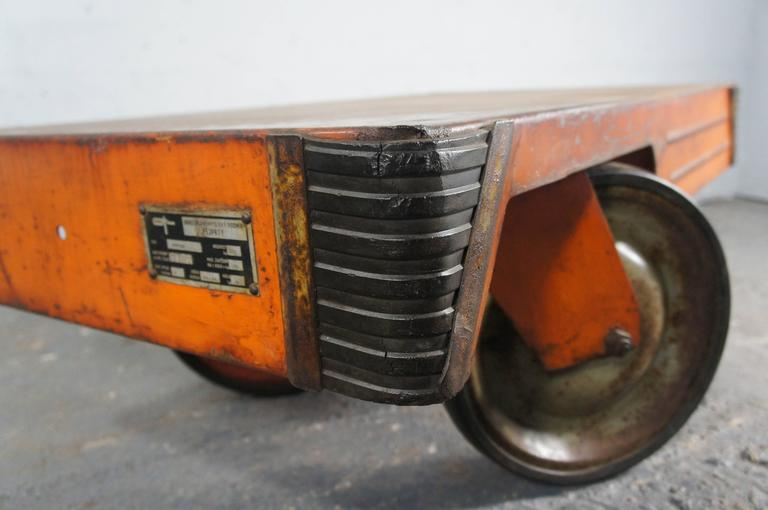 21st Century Industrial Steel Orange Coffee Table Loft Warehouse For Sale At 1stdibs