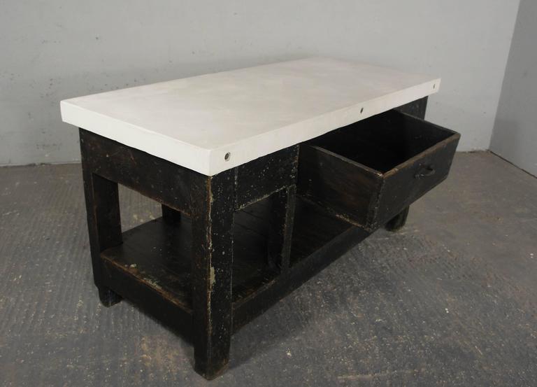Vintage Industrial Workbench Kitchen Island Sideboard
