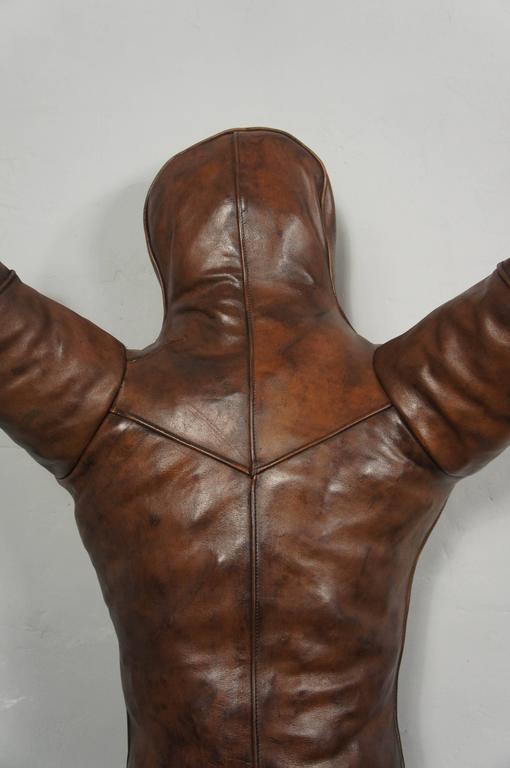 vintage leather gym boxing wrestling dummy mannequin