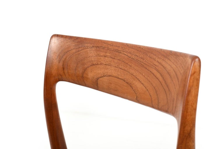 Papercord Set of Four Dining Chairs by N.O.Møller, 1960s For Sale