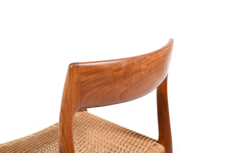 Mid-20th Century Set of Four Dining Chairs by N.O.Møller, 1960s For Sale