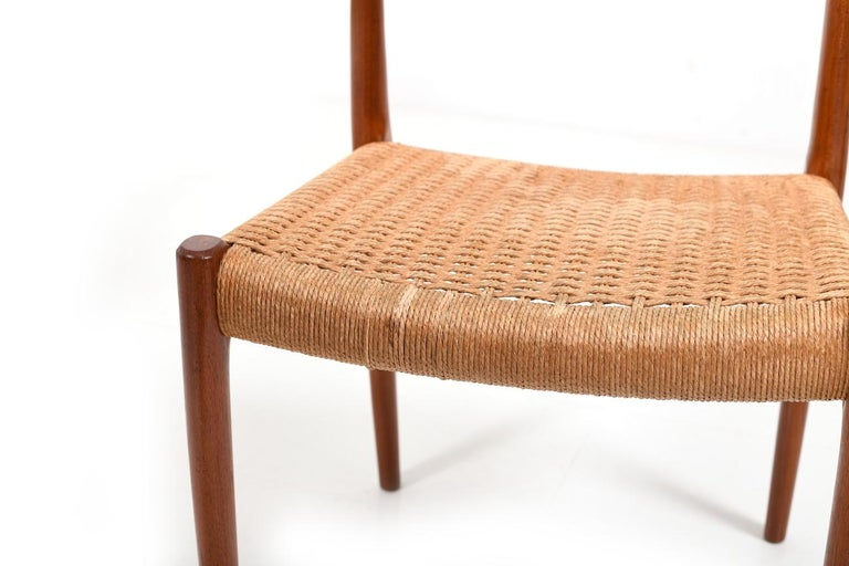 Set of Four Dining Chairs by N.O.Møller, 1960s For Sale 2