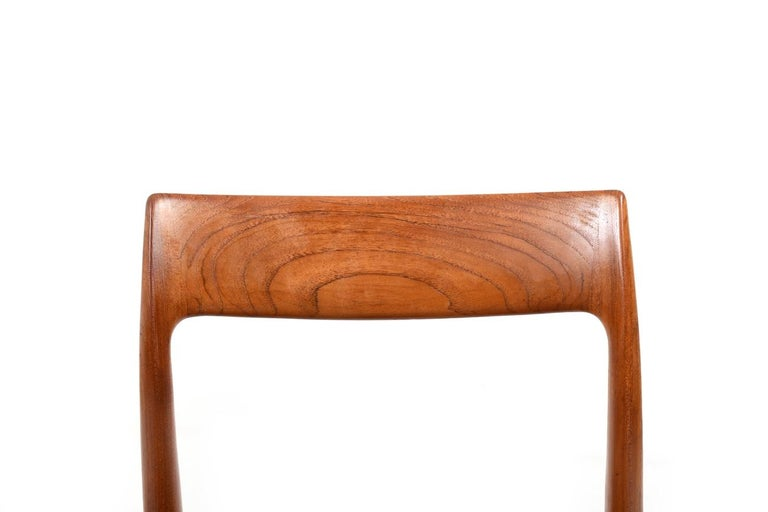 Set of Four Dining Chairs by N.O.Møller, 1960s For Sale 1