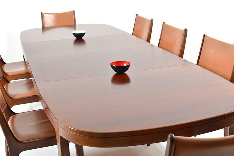 Set of 8 Dining Chairs in Rosewood by Johannes Andersen for Uldum Møbelfabrik For Sale 2