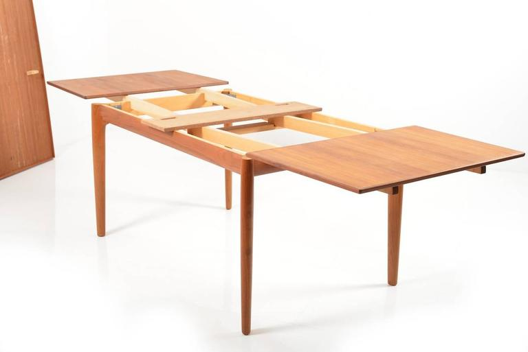 Rare Teak Dining Table By Henning Kjaernulf For Sale At 1stdibs