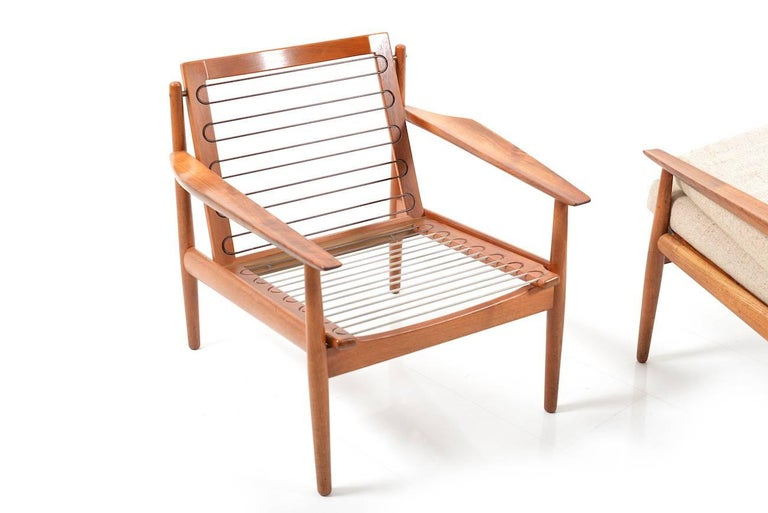Early Pair of Danish Easy Chairs by Arne Vodder, 1950s For Sale 2