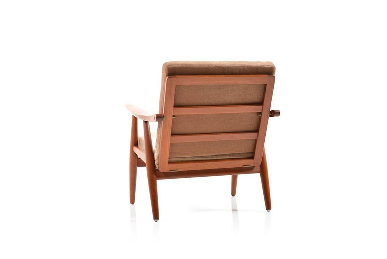 Danish Early GE-270 Easy Chair by Hans J. Wegner, 1950s For Sale