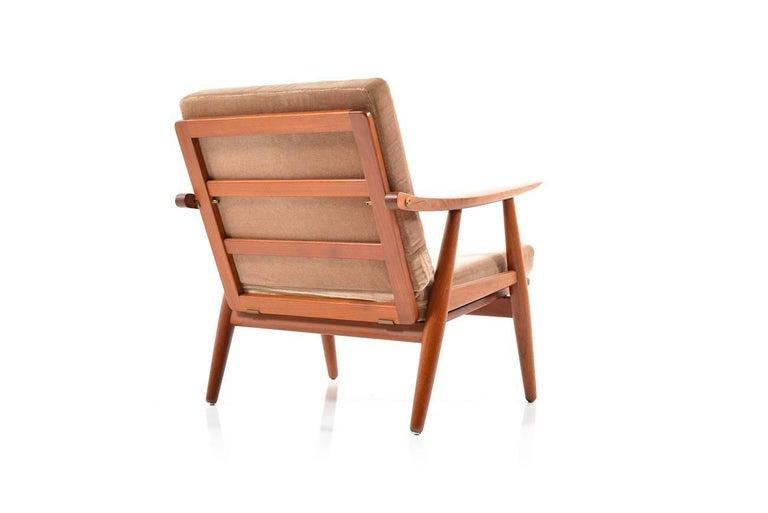 Early GE-270 Easy Chair by Hans J. Wegner, 1950s In Good Condition For Sale In Handewitt, DE