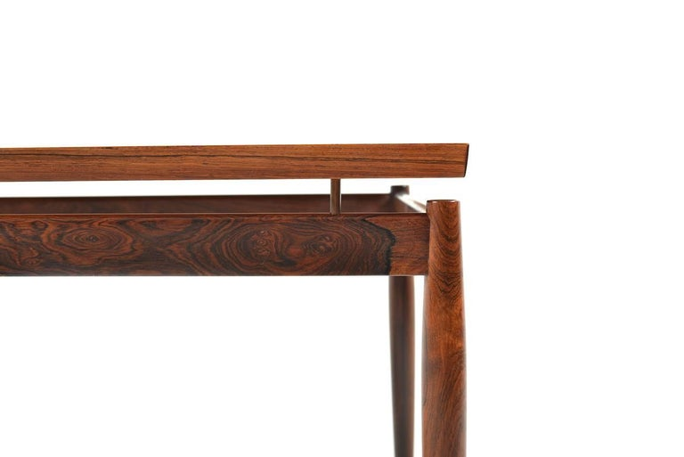 Scandinavian Modern Rectangular Rosewood Sofa Table by Grete Jalk For Sale