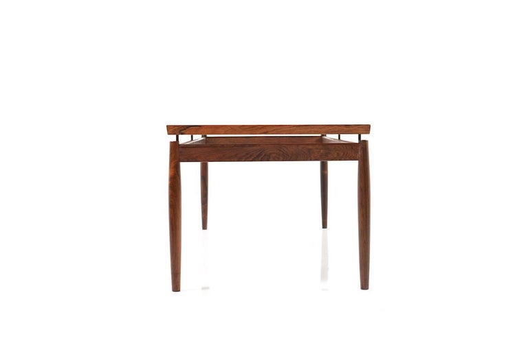 Rectangular Rosewood Sofa Table by Grete Jalk For Sale 2