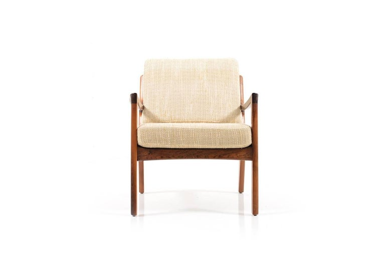 Rare Senator Easy Chair in Rosewood by Ole Wanscher 2