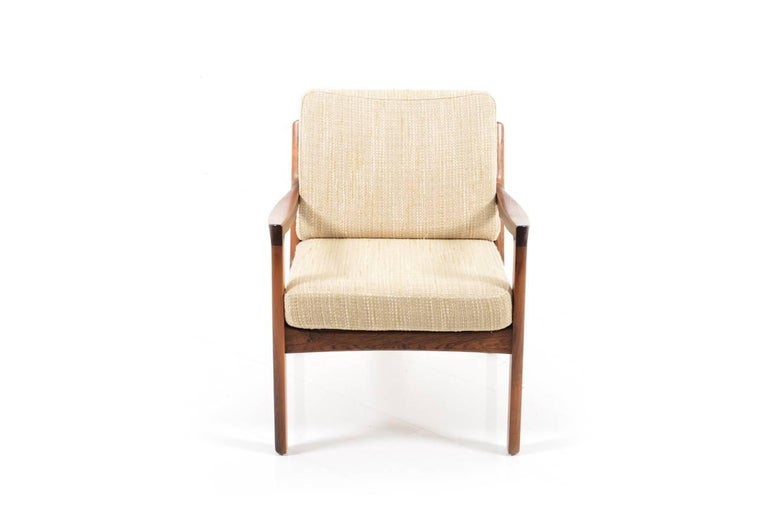 Rare Senator Easy Chair in Rosewood by Ole Wanscher 5