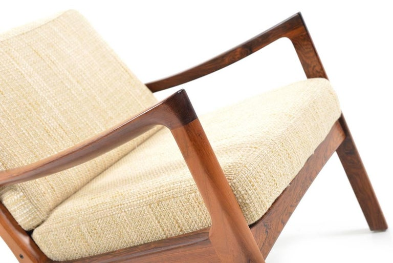 Rare Senator Easy Chair in Rosewood by Ole Wanscher 6