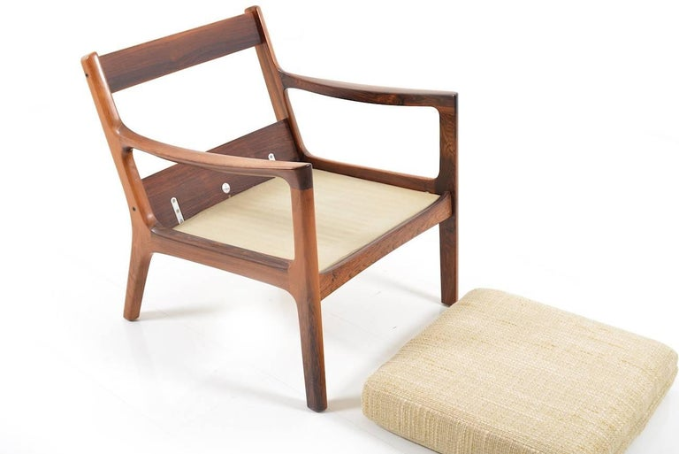 Rare Senator Easy Chair in Rosewood by Ole Wanscher 7