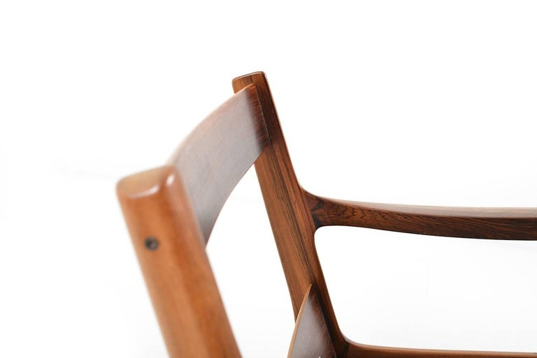 Rare Senator Easy Chair in Rosewood by Ole Wanscher 8