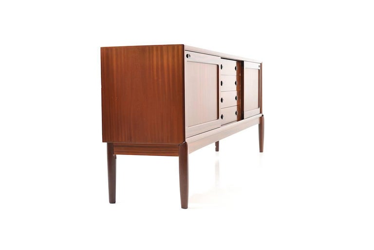 danish vintage sideboard by h w klein for bramin at 1stdibs. Black Bedroom Furniture Sets. Home Design Ideas