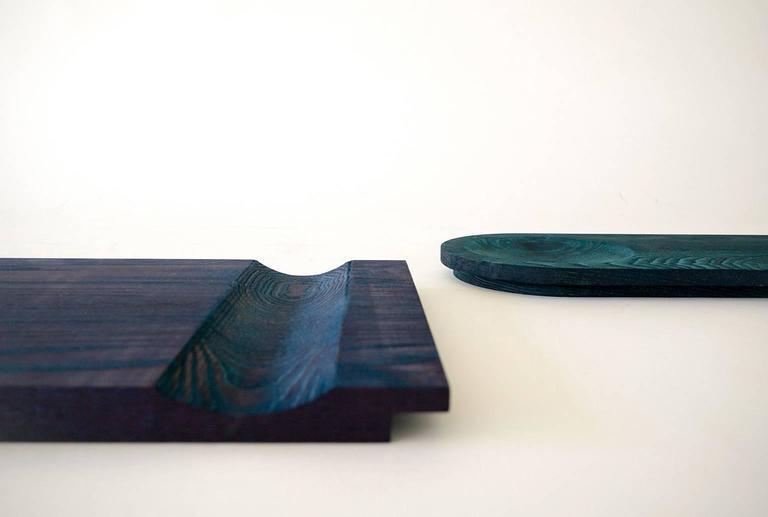 Dyed Recess 'Pill', Minimal 'Decorative Dish/Platform' for Organization/Display For Sale