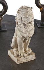 20th Century White Glazed Terracotta Lion Salesman Sample
