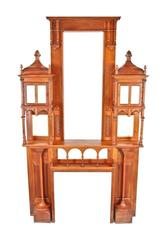 19th Century Cherry Wood Interior Mantel from the Cook Mansion