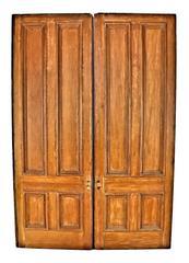 19th Century White Pine Cottage Pocket Doors