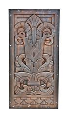 1920s Art Deco Style Cast Iron Building Facade Panel