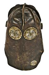 Early 20th Century Stitched Leather Fireman's Helmet